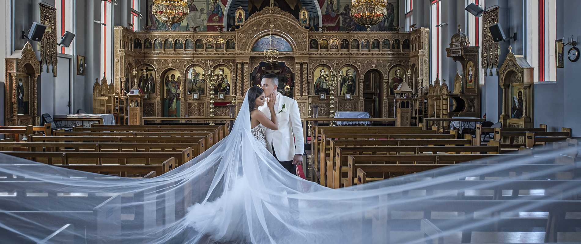 Greek orthodox church wedding photography in adelaide